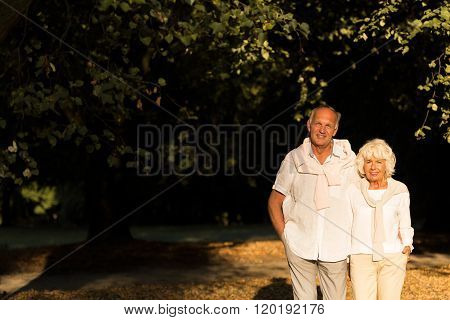 Elder Couple Strolling