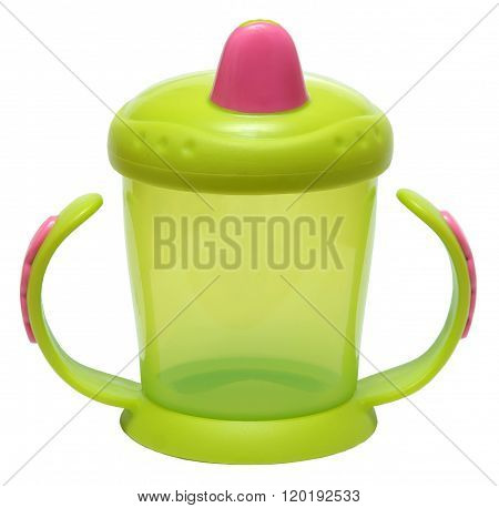 baby feeding Cup isolated on white background .
