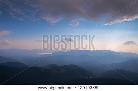 Views of the Carpathian Mountains. Mount Goverla