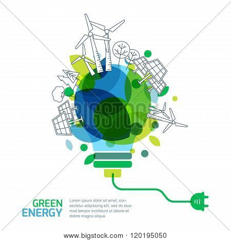 Energy Saving Concept.
