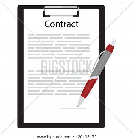 Business Contract Concept