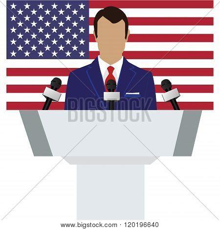 Speaker, American Flag