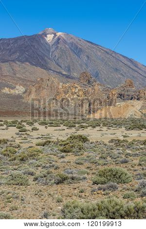 At the foot of the Teide volcano