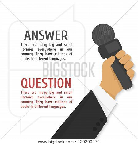 Vector illustration of interview.