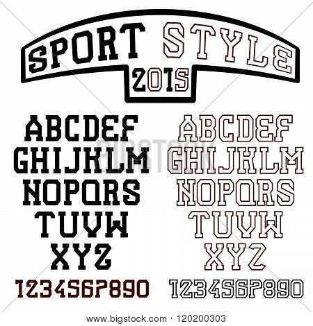 Serif Font In The Retro Style Of Sport