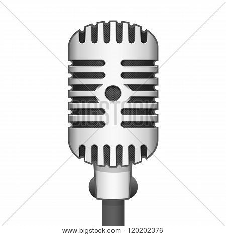 Vector illustration realistic microphone.