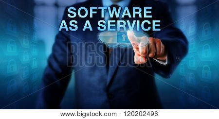 Corporate Client Touching Software As A Service