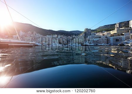View From Sea On Monte Carlo