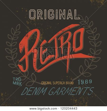 Vintage retro label