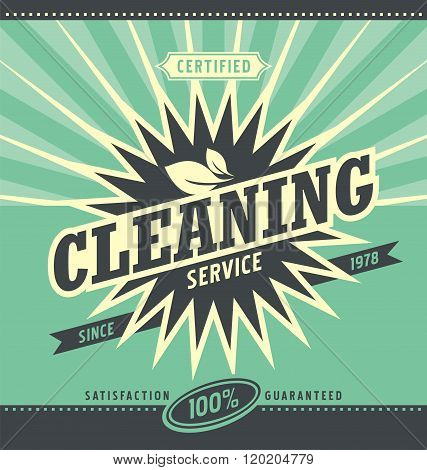 Vintage ad design for cleaning service