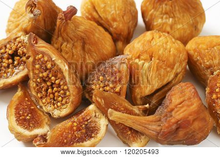 close up of sun dried figs