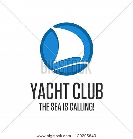 Logo yacht club.