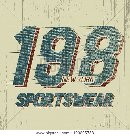 Vintage trademark with numeral 198