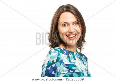 Portrait isolated on White Background.