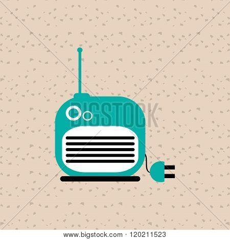 radio icons design