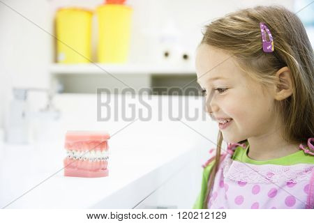 Little Girl In Dental Office, Smiling