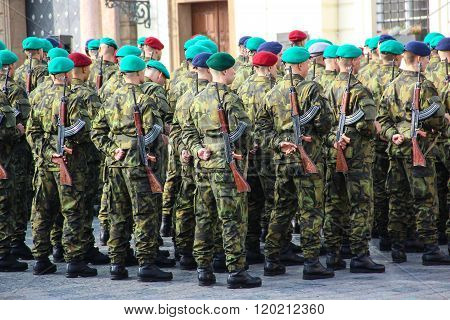 Czech army forces, oath at the presidential Palace.