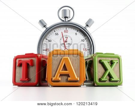 Clock with Tax Blocks
