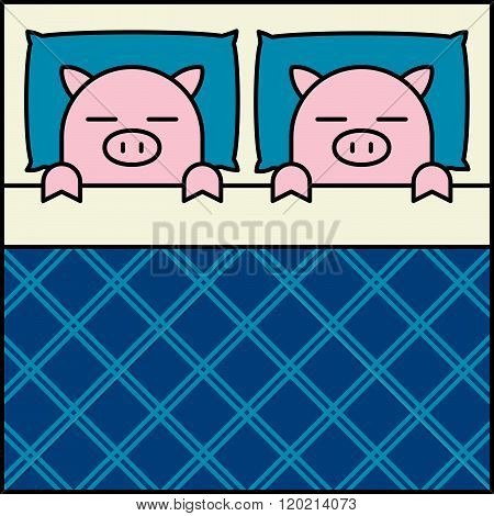 Sleeping Pig Couple