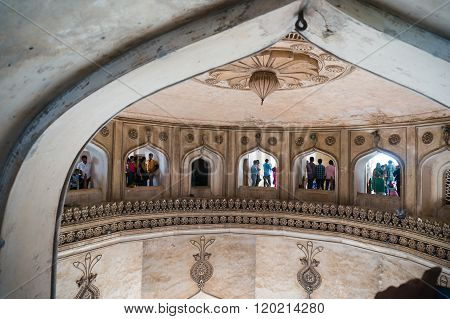 Interior arches charminar hyderabad