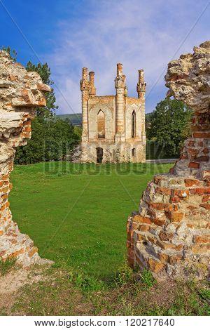 The tower of Glukhni castle built in XIV century by king Svydrygaylo in Novomalyn Ukraine