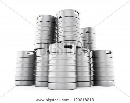 Metal keg stack