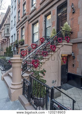 Brownstone Or Townhouse Entrance