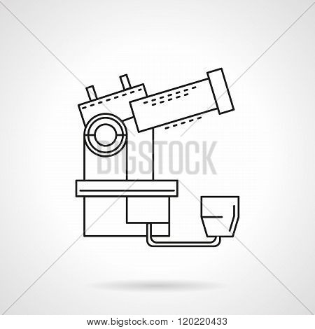 Space observation thin line design vector icon