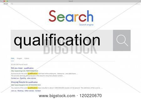 Qualification Capacity Diploma Certificate Knowledge Concept