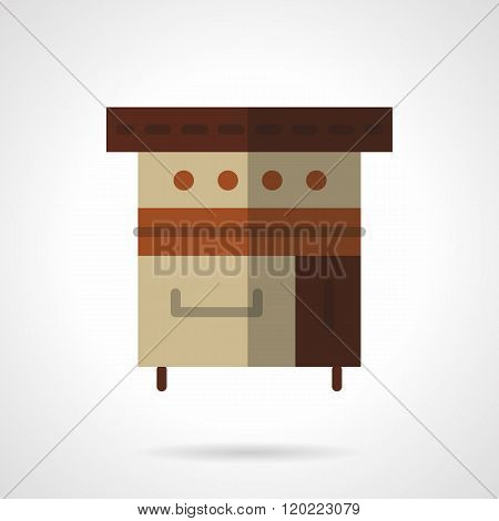 Bakery appliance flat color design vector icon