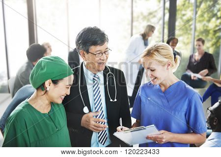 People Meeting Communication Doctor Medication Diagnosis Concept