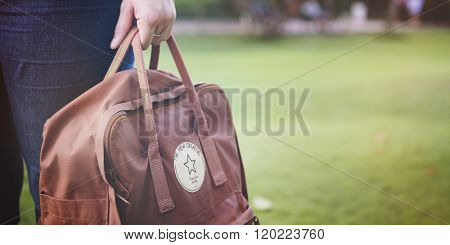Backpack Baggage Haversack Knapsack Bag Leisure Concept