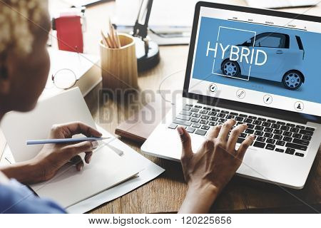 Hybrid Ecology Technology Save Energy Concept