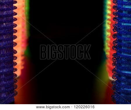 Abstraction Of Colorful Curlers