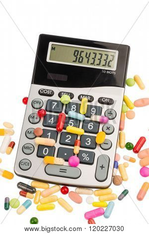tablets and calculator