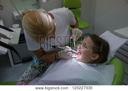 Child Patient On Her Regular Checkup