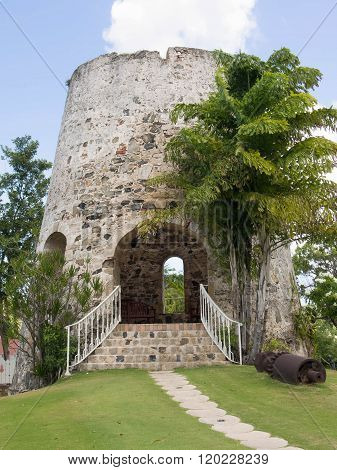 Sugar Mill With A Staircase