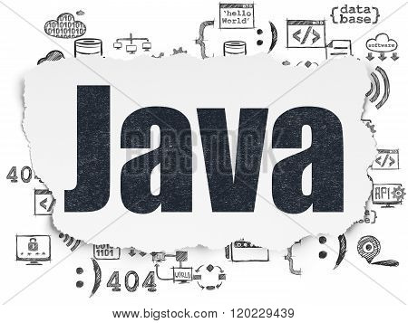 Programming concept: Java on Torn Paper background