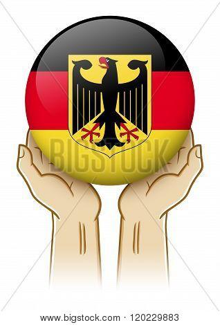 Pray For Germany Illustration