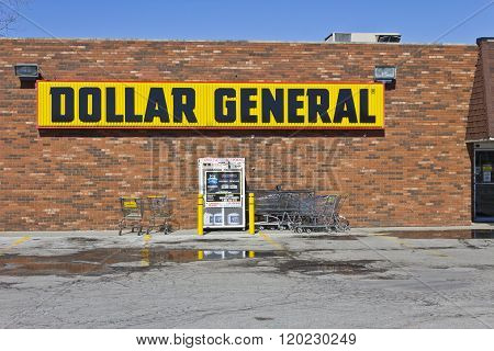 Indianapolis - Circa March 2016: Dollar General Retail Location I