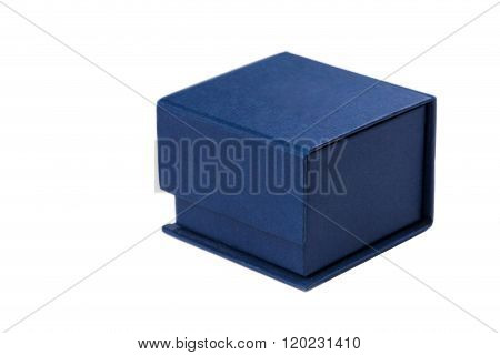 Present Box For Jewerly On White Background