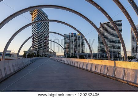Webb Bridge And Residential High Rise, Docklands, Melbourne