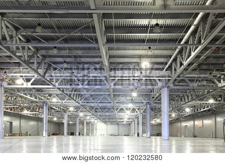 Huge empty storehouse