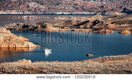 Motorboat Cruising Lake Mead