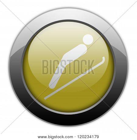 Icon, Button, Pictogram Ski Jumping