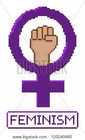 Pixelated Feminist Fist