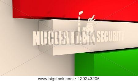 Energy generation atom station and Hungary flag elements