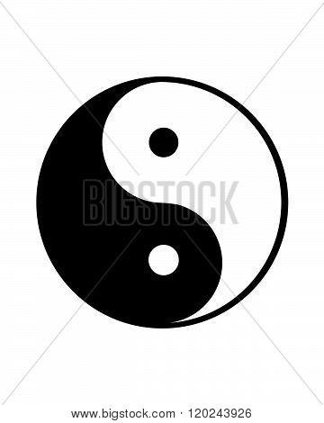 Vector Yin and Yang Symbol