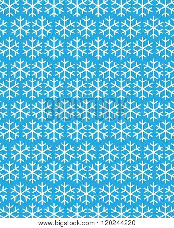 Blue Vector Christmas Snowflake Wrapping Paper and Pattern