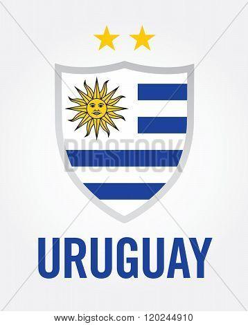 Uruguay Championship Soccer Crest - Vector